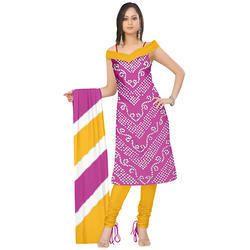 Bandhani Magenta Suit