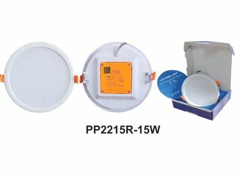 Cool White 15 W Pro Round Panel Light for Office, IP Rating: IP55