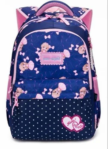 5b722ef3b325 School Backpack - 8198 (Royal Blue   Pink) at Rs 650  piece