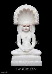 Marble Mahaveer Jain Murti