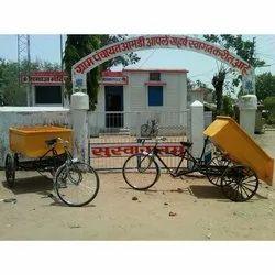 Drumless Garbage Cycle Rickshaw