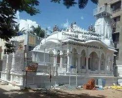 Mandir Temple Construction , White Marble temple Construction.