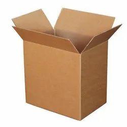 Rectangular Brown Plain Corrugated Packaging Box, Weight Holding Capacity (Kg): >25 kg, GSM: 150 GSM