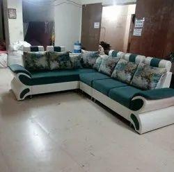 Dwarkadhish Furniture Leather Sofa