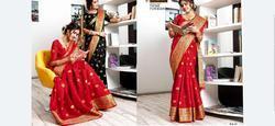 Sangam Mango Series 1001-1008 Stylish Party Wear Silk Saree