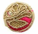Multicolor Fabric And Lace Buttons, Size/dimension: 2.5 Cm X 2.5 Cm X 0.5 Cm