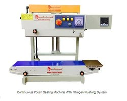 Continuous Pouch Sealing Machine With Nitrogen Flushing System (With Jack Stand)