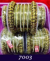 Gold Tone Stone Wedding Bangles Kadas