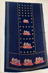 Printed Blue Gujri Cotton Nighty