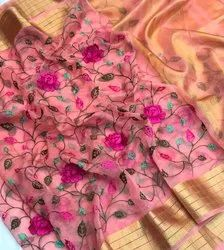 Organza and Designer Embroidered Sarees