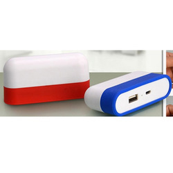 Li-ion Polymer Power Glow Caplet Power Bank with Hidden USB Charging Cable
