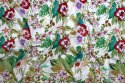 Hand Screen Printed 100% Cotton Fabric Indian Paisley Print Jaipuri Ikat Dress Material