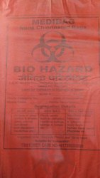 Recyclable Red Non Chlorinated Biomedical Bag, Size: 22x26 Inch, Capacity: 10-20 Kg