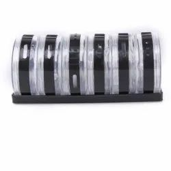 6 Pc Multipurpose Spice Rack Plastic Stack-able and Space Savvy Dining Table Spice Rack for Kitchen