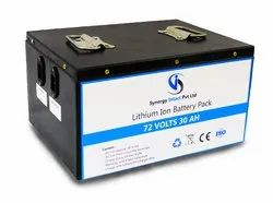 72 Volts 30 aH Lithium Ion Battery for Electric Scooter / Bike