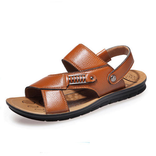 3a9f05a27e08 Brown Men Mens Casual Leather Sandal