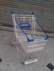Stainless Steel Supermarket Shopping Trolley 125 LTR
