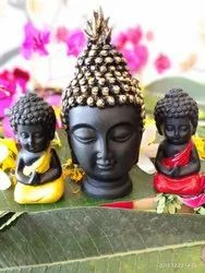Polyresin Sitting Baby Buddha With Buddha Head For Office Decoration