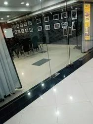 Modi Guard Swing Openable Glass Door for Office, Thickness: 12 mm