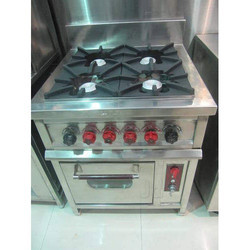 4 Burner Gas Range With Oven for Continental Cooking