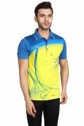 Full Printed Dri Fit Collar Sports T-Shirt