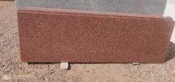 Polished Slab Khalda Red Granite, For Flooring, Thickness: 15-20 MM