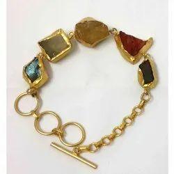 Gemstone Chunky Stone Bracelet