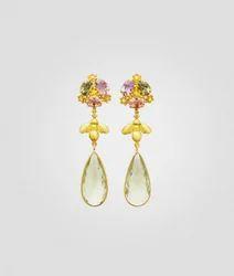 Golden Party Wear Botanika Earring