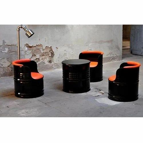 Wood Amp Plastic Decorative Drum Sofa Set Rs 15000 Set