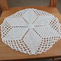 Round Handmade Crochet Tablecloth