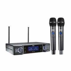 Wireless Black Microphone Ahuja, Model Name/Number: AWM-700U2