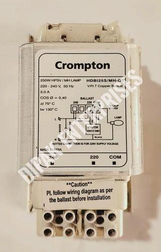 cromptom sodium & metal halide ballast choke 250 watt, hdbi25s/mh-ot,