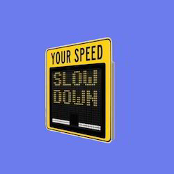 Aluminum Rectangle Electronic Speed Display Sign - Variable Message Sign