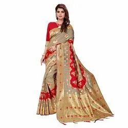 1882 Printed Jacquard Silk Saree