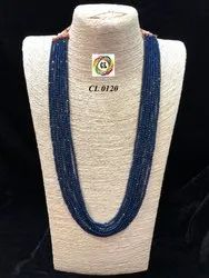 CL Code Crystal Onex Beaded Fashion Jewellery Fancy Navy Blue Necklace