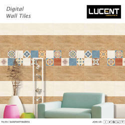 Ceramic Lucent Modern Glossy Wall Tile, 0-5 mm##5-10 mm##10-15 mm##15-20 mm##20-25 mm, Size/Dimension: 30 x 60 cm