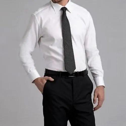 Cotton Plain Mens Formal Wear, Size: L, Packaging Type: Box