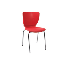 PVC and Stainless Steel Armless Office Executive Chair
