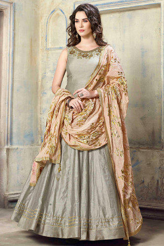 9a60c4f74d6d Designer Gown With Heavy Dupatta. at Rs 2500 /piece | रेशमी ...