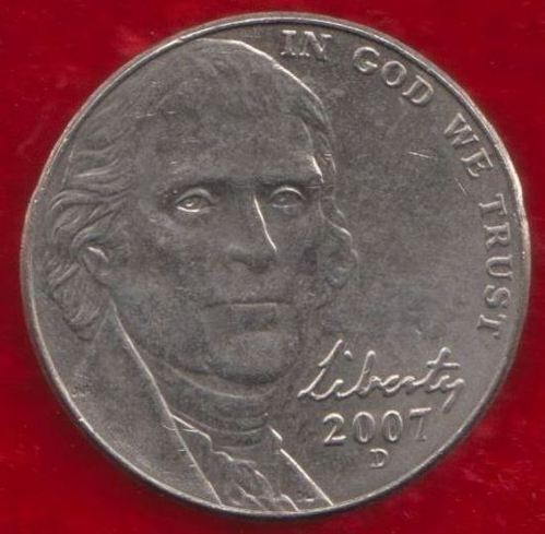 United States Of America 5 Cents Jefferson