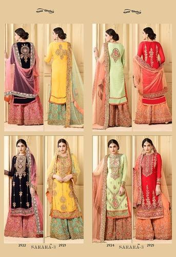 2da4afdc00 Sarara 3 Faux Georgette Suits, Rs 1995 /piece, Womens Paradise | ID ...