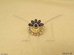 Polki Flower Finger Ring