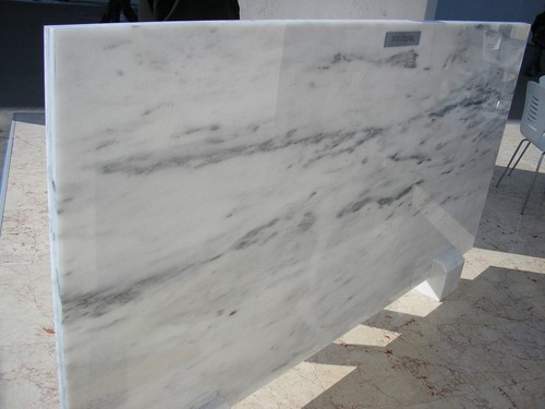 White Makrana Marble Slabs For Staircase Rs 50 Square