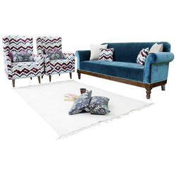 Wooden 5 Seater Sofa Set