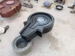 Narmada Shivling With Marble Yoni Base