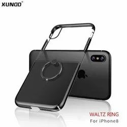 Plastic IPhone 8 Transparent Mobile Back Cover With Waltz Ring
