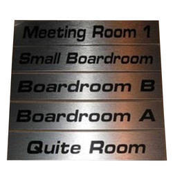 SS Rectangular Name Plate