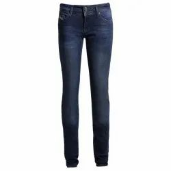 Stretchable Slim Women Blue Denim Jeans, Packaging Type: Packet, Waist Size: 26-32