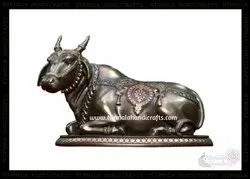 Handmade Copper Finish Nandi Statue