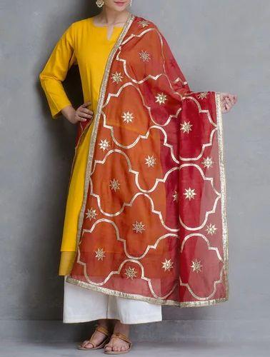 Ladies Dupatta Gotta Patti Chanderi Dupatta Manufacturer